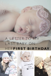 A Letter to my last baby on her 2