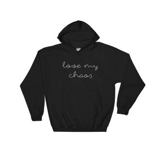 Love-My-Chaos-white_printfile_front_mockup_Flat-Front_Black